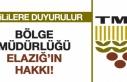 TMO Bölge Müdürlüğü Elazığ'ın Hakkı