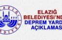 Elazığ Belediyesi'nden Deprem Yardımı Uyarısı