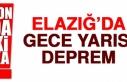 Elazığ'da Gece Yarısı Deprem