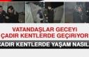 Elazığ'da Vatandaşlar Geceyi Çadır Kentlerde...