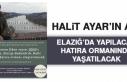 Halit Ayar'ın Adı Elazığ'da Yaşatılacak