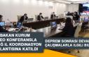 Bakan Kurum Video Konferansla Elazığ İl Koordinasyon...