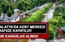Malatya'da Kent Merkezi Trafiğe Kapatıldı