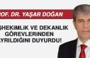 Prof. Dr. Yaşar Doğan, Başhekimlik ve Dekanlık...