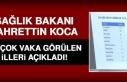 Sağlık Bakanı Koca, İllere Göre Durumları Açıkladı!