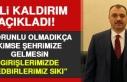 Vali Kaldırım: Zorunlu Olmadıkça Kimse Şehrimize...