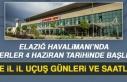 Elazığ Havalimanı'nda Seferler 4 Haziran Tarihinde...