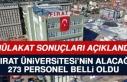 Fırat Üniversitesi Personel Alımı Mülakat Sonuçları...