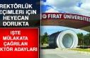 Fırat Üniversitesi Rektörlüğü İçin Kimlerle...