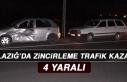 Elazığ'da Zincirleme Trafik Kazası: 4 Yaralı!