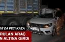 Elazığ'da Kazada Savrulan Araç Tırın Altına...