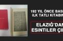 192 Yıl Önce Basılan İlk Tatlı Kitabında Elazığ'dan...