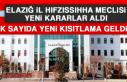 ELAZIĞ İL HIFZISSIHHA MECLİSİ YENİ KARARLAR ALDI