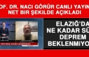 Prof. Dr. Görür Açıkladı! Elazığ'da Ne Kadar...