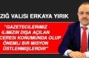 Vali Yırık'tan Dünya Gazeteciler Günü Açıklaması