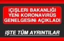 İçişleri Bakanlığı Yeni Koronavirüs Genelgesini...