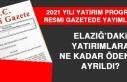 Elazığ'daki Yatırımlara Ne Kadar Ödenek Ayrıldı?