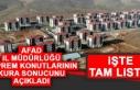 AFAD İl Müdürlüğü Deprem Konutlarının Listesini...