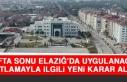 Hafta Sonu Elazığ'da Uygulanacak Kısıtlamayla...