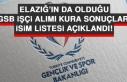 GSB İşçi Alımı Kura Sonuçları İsim Listesi...