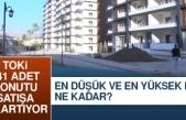 TOKİ Elazığ'daki 141 Adet Konutu Satıyor