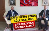 Şehit Fethi Sekin Külliyesi İçin Bakanlıktan Ödenek Alındı