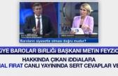 Türkiye Barolar Birliği Başkanı Prof. Dr. Metin Feyzioğlu Kanal Fırat'a Konuk Oldu