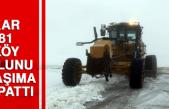 Kar 81 Köy Yolunu Ulaşıma Kapattı