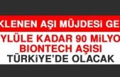 Beklenen Aşı Müjdesi Geldi! Eylüle Kadar 90 Milyon BIONTECH Aşısı Türkiye'de Olacak