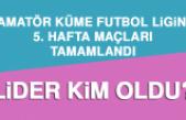 1. Amatör Küme Futbol Liginde 5. Hafta Maçları Tamamlandı