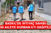 Baskil'de İhtiyaç Sahibi 150 Aileye Kurban Eti Dağıtıldı
