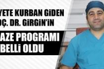 Merhum Doç. Dr. Mustafa Girgin'in Cenaze Programı Belli Oldu