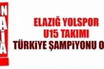 Elazığ Yolspor U15 Takımı Türkiye Şampiyonu Oldu
