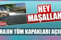 Keban Barajı Coştu,  Kapakların Tümü Açıldı