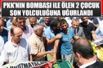 PKK'nın Bombası İle Ölen 2 Çocuk Son Yolculuğuna Uğurlandı