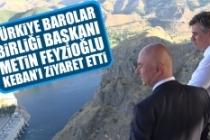 Türkiye Barolar Birliği Başkanı Metin Feyzioğlu Keban'ı Ziyaret Etti