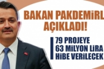 79 Projeye 63 Milyon Lira Hibe Verilecek
