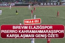 Elazığspor-Kahramanmarşspor Maçı Geniş Özeti