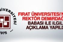Fırat Üniversitesi'nden Açıklama Yapıldı