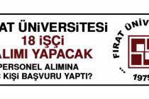 Fırat Üniversitesi 18 İşçi Alımı Yapacak