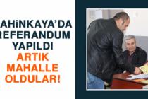 Şahinkaya'da Referandum Yapıldı