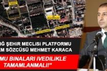 Şehir Meclisi Platformu Başkanı Karaca, Tarım İl Müdürlüğü Binasıyla İlgili Açıklama Yaptı