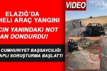 Elazığ'da Şüpheli Araç Yangını! Araç Yanına Bırakılan Not Kan Dondurdu!