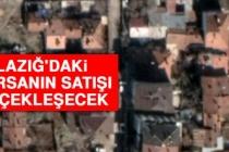 Elazığ'daki 17 Arsanın Satışı Gerçekleşecek