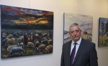Güzelyayla eski belediye başkanı Sayım Koç, MTSO'da sergi açtı