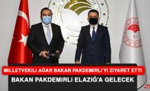 """Milletvekili Ağar: """"Bakan Pakdemirli, Elazığ'a gelerek müjdeler verecek"""""""