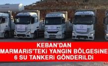 Keban'dan Marmaris'teki Yangın Bölgesine 6 Su Tankeri Gönderildi