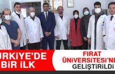 Türkiye'de Bir İlk Fırat Üniversitesi'nde Geliştirdi