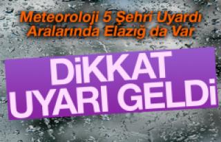 5 İl İçin Kuvvetli Yağış Uyarısı