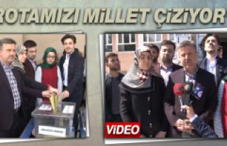 Ak Parti Elazığ İl Başkanı Ramazan Gürgöze...